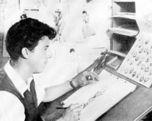 Fred Moore en su estudio