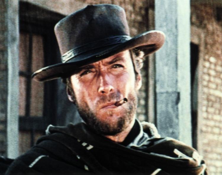Clint Eastwood y su característica mirada.