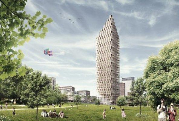 rascacielos de madera estocolmo