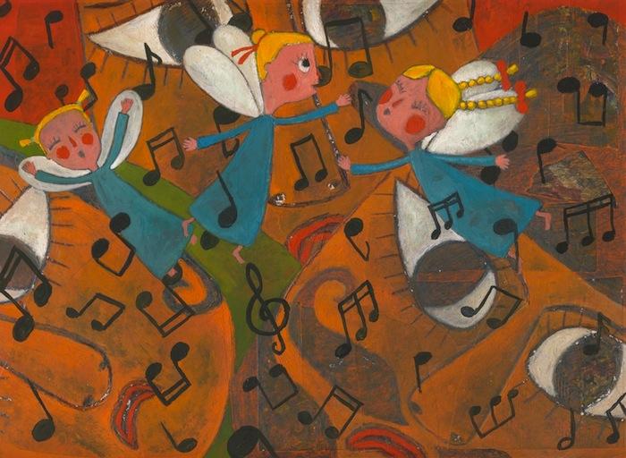"""Ilustración de Stefan Turk para """"Pentagrama de Verano"""", de Salomé R. Hage."""