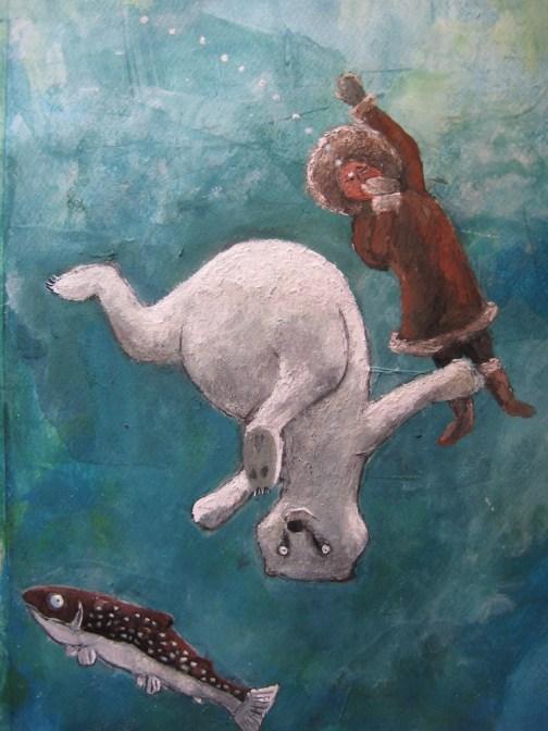 Stefan Turk, oso y esquimal
