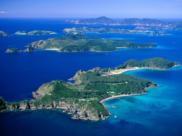 Bay of islands, vista aérea.