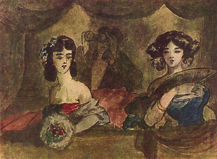 La Loge de l'opéra, de Constantine Guys.