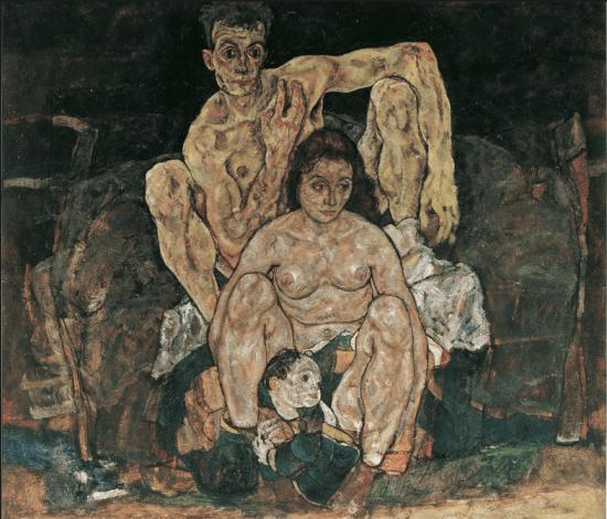 La Familia (1918), Egon Schiele, Galería Österreichische-Belvedere, Viena.