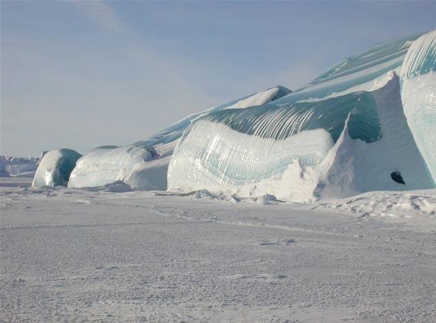 Las olas congeladas en la Antártida