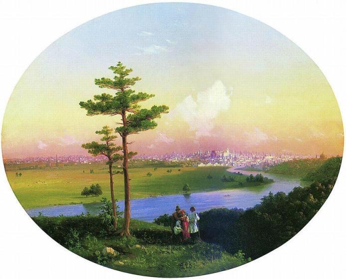 Ivan-Aivazovsky-Vistas de Moscú desde las Colinas de los Gorriones, 1848