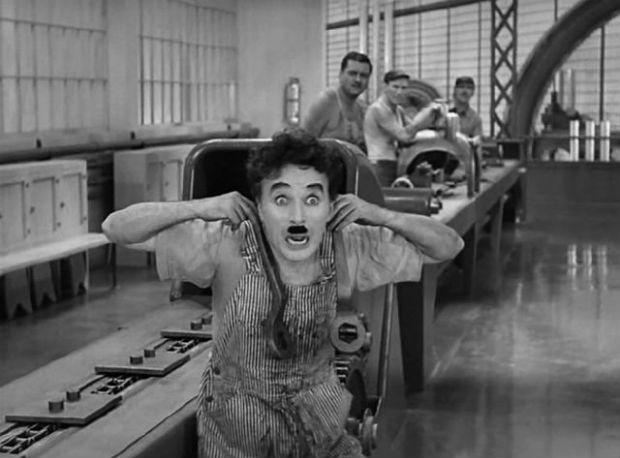 'Tiempos modernos', Charles Chaplin