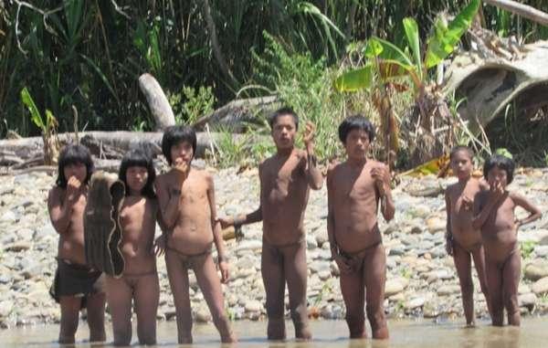 Hasta 200 indígenas mashco-piros no contactados entraron a una comunidad indígena local. © FENAMAD