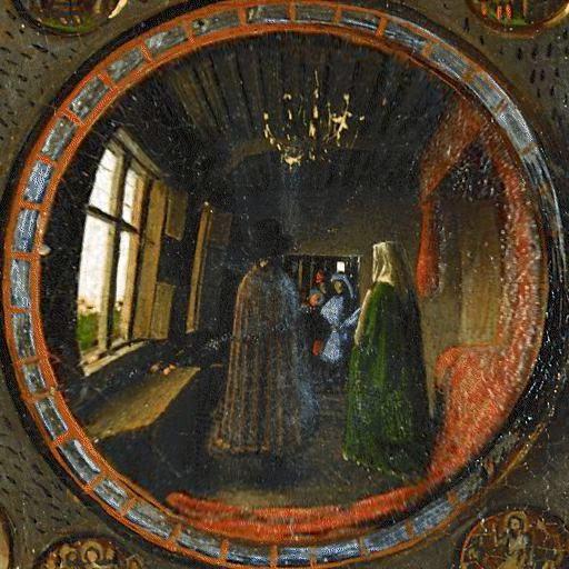 Matrimonio Arnolfini detalle