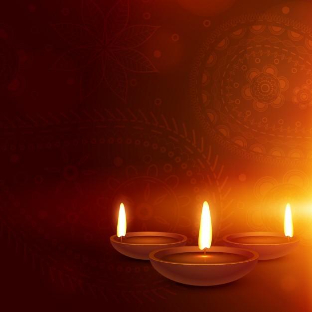 fondo-anaranjado-con-velas-de-diwali_1017-5076