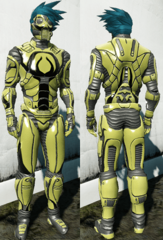 Adjusted Pixii Full set armor Entropia Universe