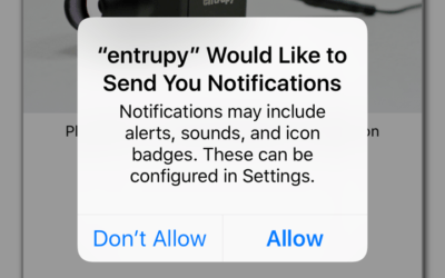Entrupy Enabled Push Notifications