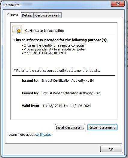 How Are The L1m Chain Certificates Installed On Microsoft