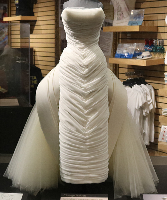 A replica wedding dress