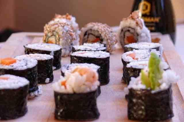 presentar sushi