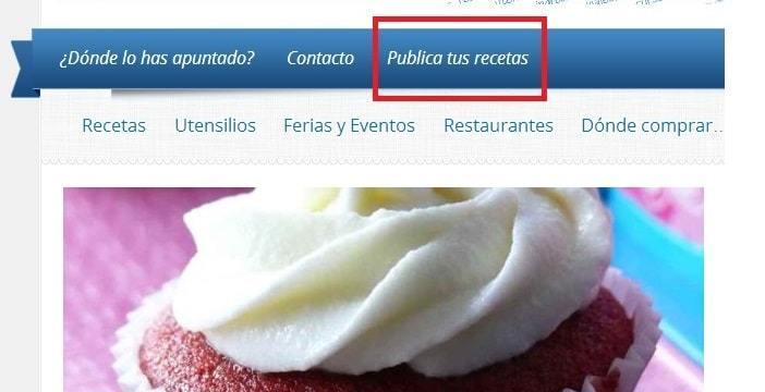 Compartir tus recetas en el blog