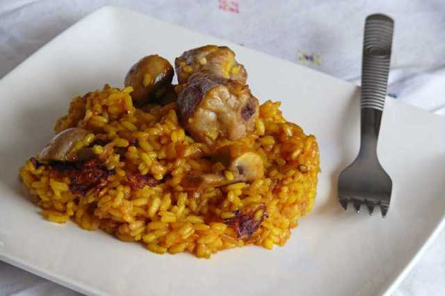 costillas con arroz