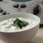 Salsa de yogur y pepino , receta griega