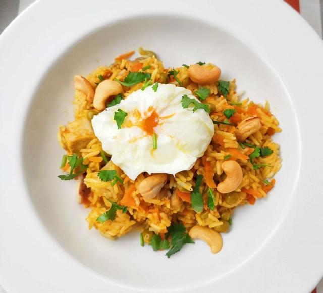 arroz basmati al curry