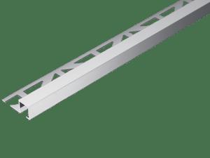 profile de finition carrelage squareline alu anodise argent 11mmx250cm pour murs et sols dural dpsae 110