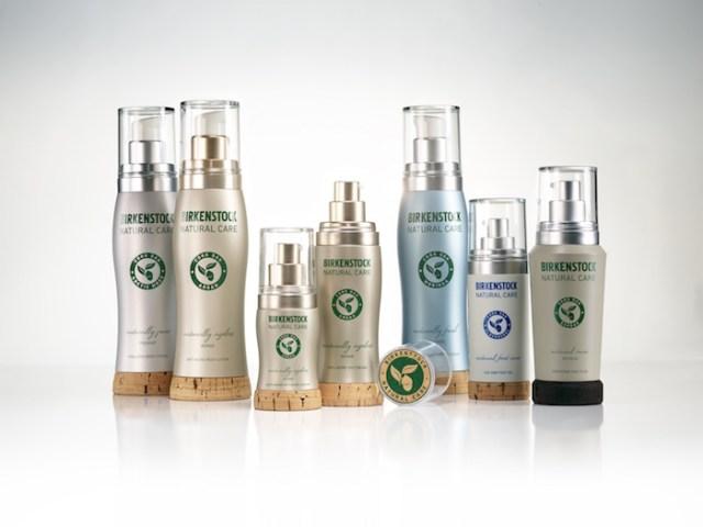 Cosméticos naturales con packaging sostenible. Foto: Birkenstock