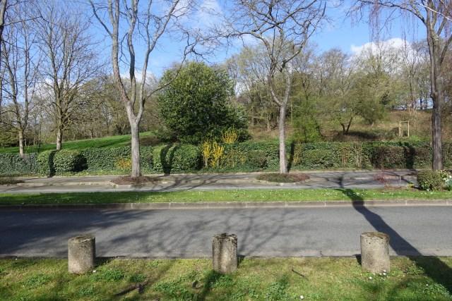 bollards in park