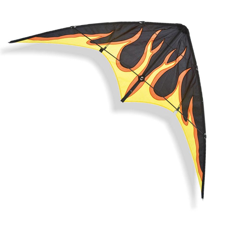 cerf volant flamme