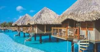Alojamientos flotantes en Bora Bora