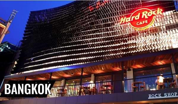 Frente del Hard Rock Cafe Bankok