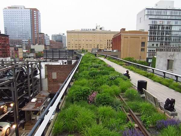 Paseo por parque elevado de Nueva York - High Line