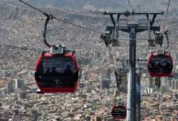 El teleférico más alto del mundo en La Paz Bolivia