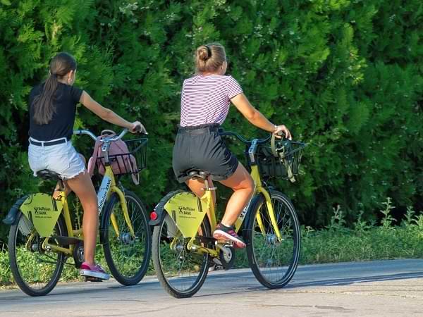 Transporte en bicicletas publicas