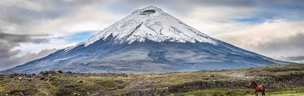 Volcán Cotopaxi en Ecuador