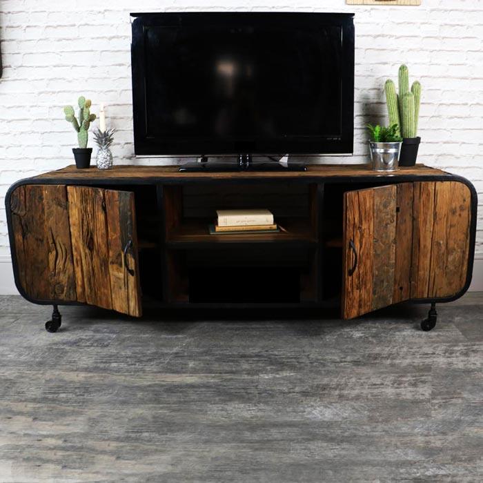meuble tv industriel une tendance du