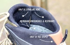 Doublure chaussure de randonnée