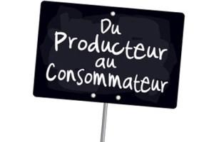 """Ardoise """"Du producteur au consommateur"""""""