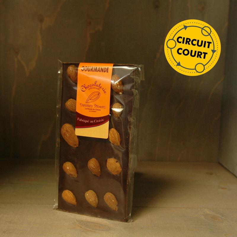 La Route du Cacao - tablette de chocolat gourmande noir amande 90g