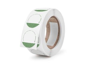 45mm round write-on compostable sticker
