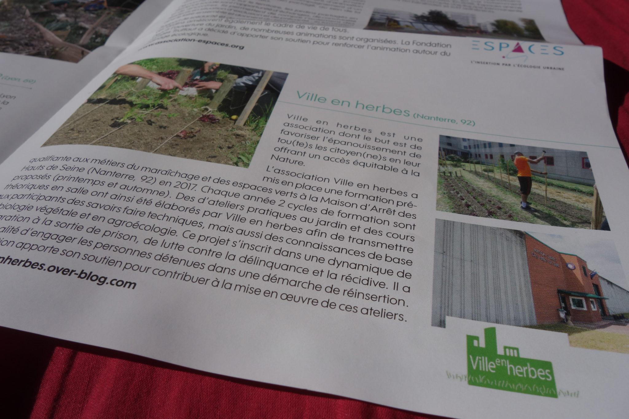 Carenews : magazine des associations - projet à la prison de Nanterre