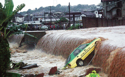 Climate  Drawbacks to climate communication, by study Flooding