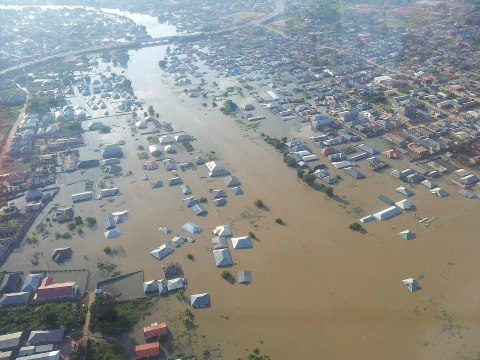 Flooded parts of Lokoja in Kogi State in 2012