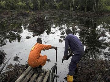 Bonga oil spill site. Photo: Courtesy punchng.com