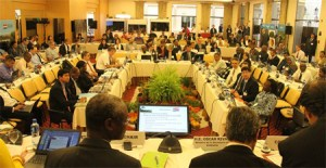 Participants at the UN-REDD Policy Board Meeting, Lima, Peru, 7-9 July, 2014