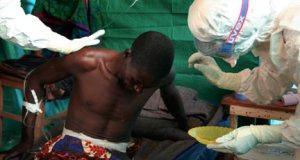 A victim of Ebola virus