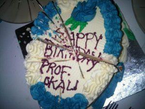 Prof Okali's birthday cake