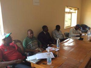 From left: Richard Okibe, Raymond Ebonime, Faniyan Babasola, Olatilu Olubunmi Benson and Tijani Ahmad, during a meeting involving the UN-REDD+ Scoping Team and officials of the Ekiti State Government, in Ado-Ekiti, on Monday October 27, 2014