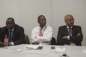Nagmeldin G. Elhassan, the Chair of the African Group of Negotiators (right)  Civil Society's visit to African Group at COP 20 in photos AG2 300x199