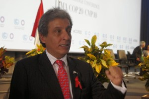 COP 20 President and Peruvian Environment Minister, Manuel Pulgar-Vidal  COP 20: Govts agree ground rules on contributions to Paris 2015 Agreement  COP President 300x199