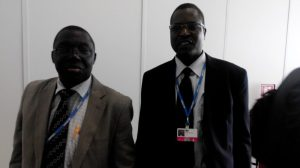 Dr Samuel Adejuwon (left) and Peter Tarfa