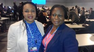 Mrs Abiola Awe (Assistant Director, DCC) (right) with Ann Umar (DCC)